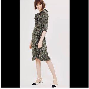 Topshop flower ruffle dress maxi